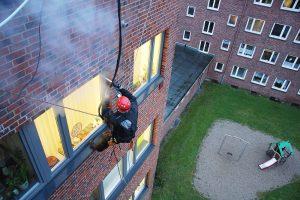 Fassadenkletterer in Hamburg