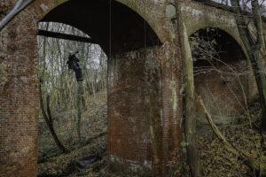 Visuelle Brückeninspektion mittels Höhennarbeiter